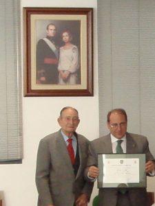 Homenaje al general retirado Isabelino Cáceres
