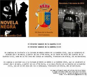 Barcelona 5 de marzo de 2014 – Novela Negra en la Guardia Civil
