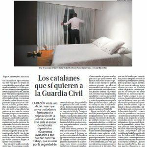 Los catalanes que sí quieren a la Guardia Civil