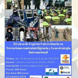 Programa del II Curso de experto universitario en Terrorismo, Contrainteligencia y Geoestrategia Internacional.