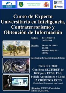 La HAGC organiza en Madrid el Curso de Experto Universitario en Inteligencia, Contraterrorismo y Obtención de información