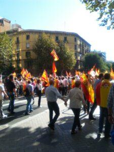 Galeria de fotos de la manifestacion del 10 de octubre por la unidad de España en Barcelona