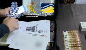 Detenidas 37 personas pertenecientes a una organización criminal dedicada a la introducción de billetes falsos de 500 euros