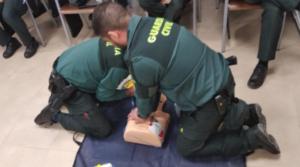 La Fundación subvenciona un curso de Reanimación Cardiopulmonar y Soporte Vital Avanzado para guardias civiles
