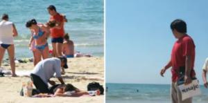 """La Guardia Civil alerta sobre los masajistas que ofrecen sus servicios en las playas: """"No arriesgues tu vida"""""""