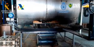 Desarticulada una organización especializada en la fabricación y comercialización fraudulenta de tabaco entre España y Portugal