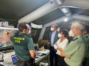 """María Gámez, directora general: """"La Guardia Civil se está dejando la piel por ayudar a los vecinos de La Palma"""""""